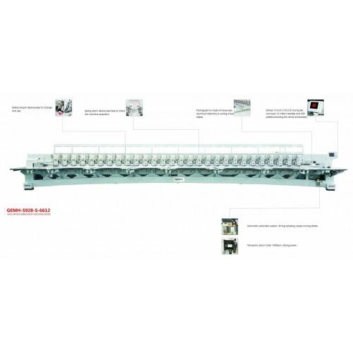 Masina de brodat 28 capete, aplicare paiete, servomotor Panasonic GEMH-S928-S-6612